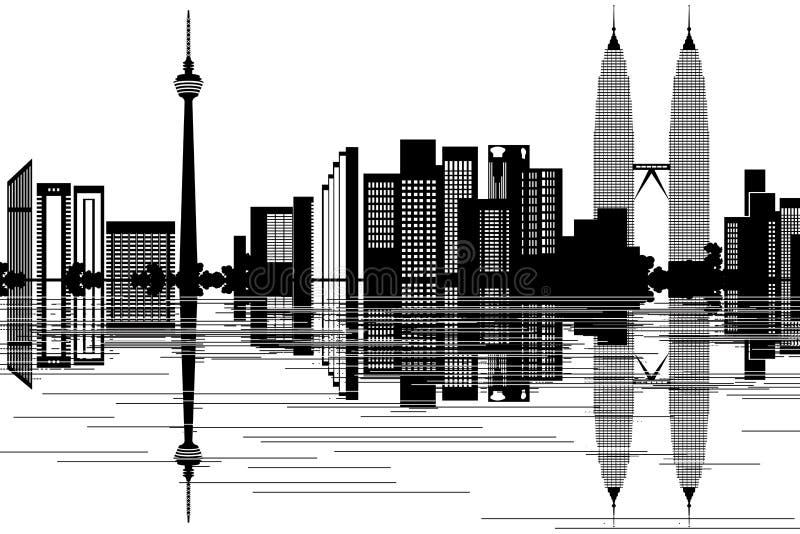 Kuala Lumpur Skyline stock illustratie