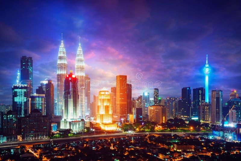 Kuala Lumpur Skyline royalty-vrije stock afbeelding