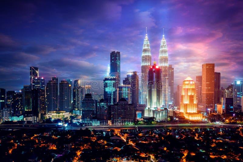 Kuala Lumpur Skyline stock afbeelding