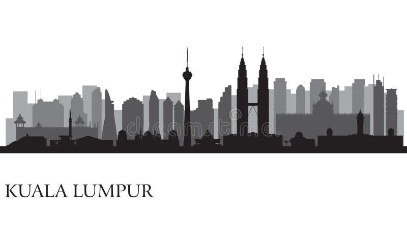 Kuala Lumpur stadshorisont vektor illustrationer