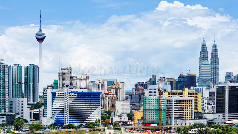 Kuala Lumpur-Stadt lizenzfreies stockfoto