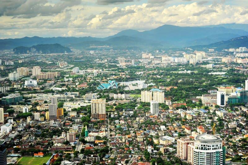 Kuala Lumpur a sunse immagine stock