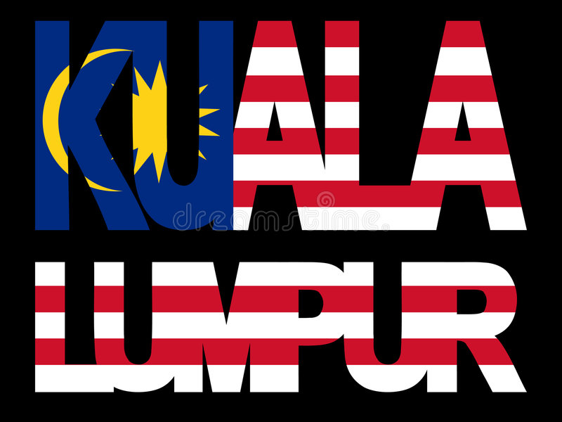 Download Kuala Lumpur text stock vector. Image of symbol, illustration - 4017304
