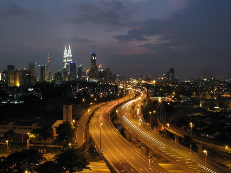 Kuala Lumpur And The Twin Towers Royalty Free Stock Image