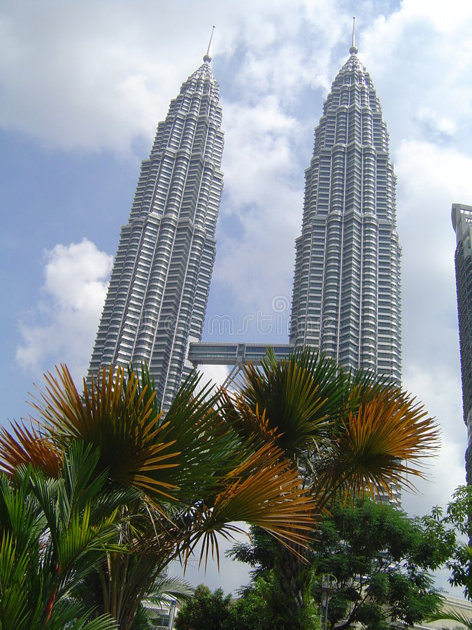 Kuala lumpur twins royalty free stock image
