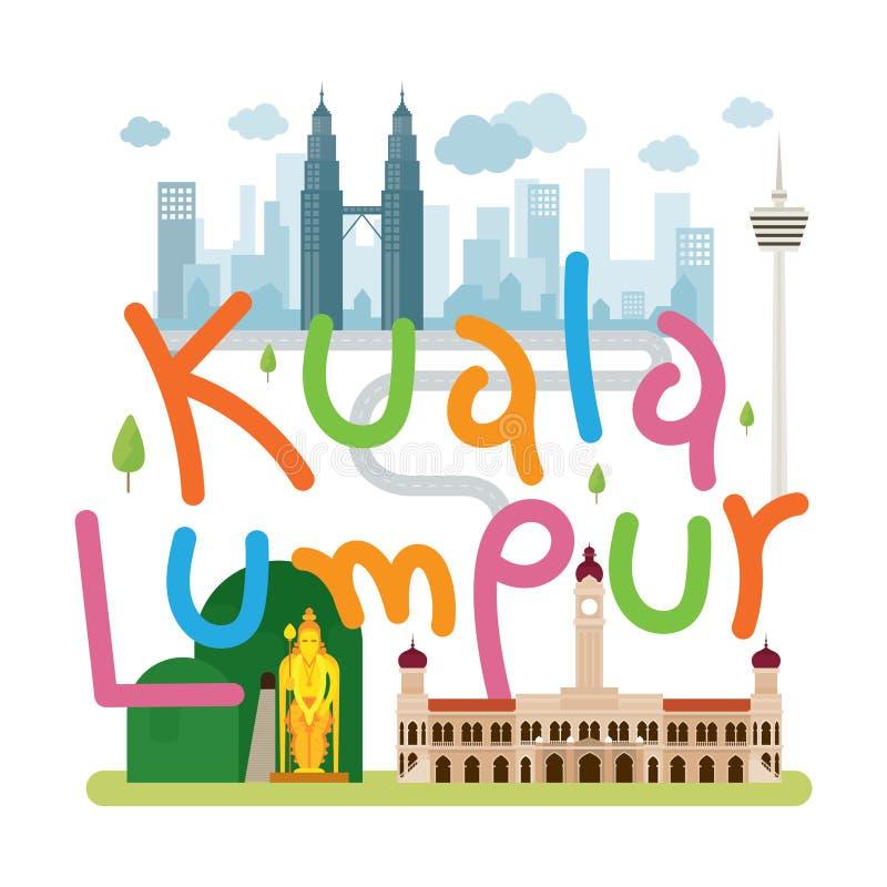 Kuala Lumpur, voyage de la Malaisie et attraction illustration libre de droits