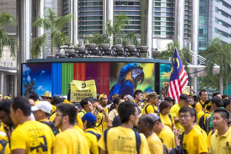 Kuala Lumpur Wilayah Persekutuan Malezja, Listopad 19 2016, -: Bersih 5 wiec był pokojowym demokratycznym protestem w Malezja fotografia royalty free