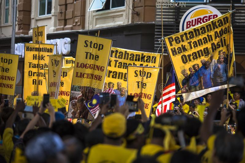 Kuala Lumpur Wilayah Persekutuan Malezja, Listopad 19 2016, -: Bersih 5 wiec był pokojowym demokratycznym protestem w Malezja obrazy royalty free