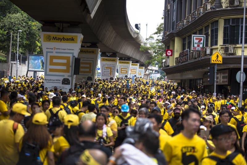 Kuala Lumpur Wilayah Persekutuan Malezja, Listopad 19 2016, -: Bersih 5 wiec był pokojowym demokratycznym protestem w Malezja zdjęcia royalty free