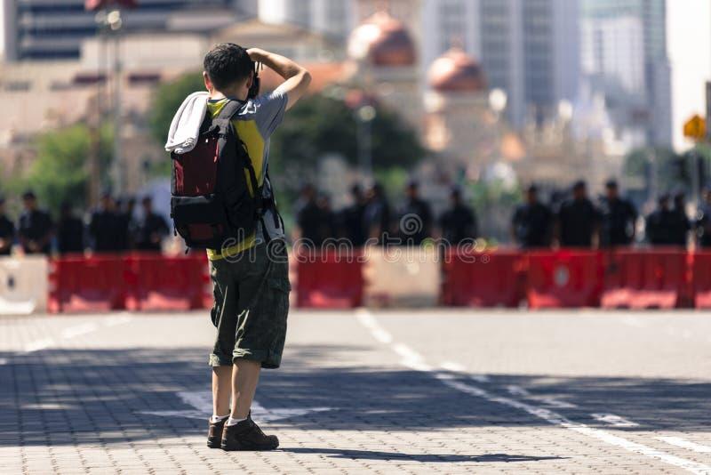 Kuala Lumpur Wilayah Persekutuan Malezja, Listopad 19 2016, -: Bersih 5 wiec był pokojowym demokratycznym protestem w Malezja zdjęcie stock