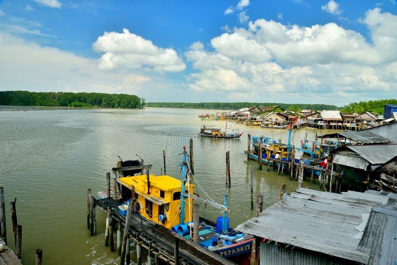 Kuala Sepetang Fishing Village imagens de stock royalty free