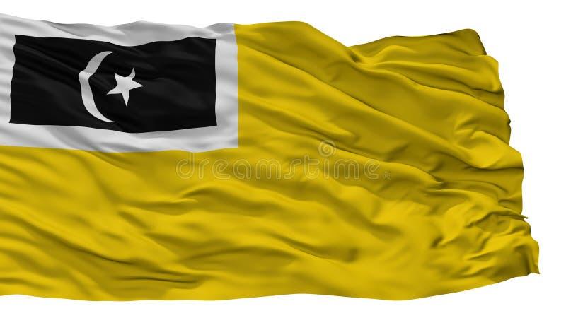 Kuala Terengganu City Flag, Malaisie, état de Terengganu, d'isolement sur le fond blanc illustration libre de droits