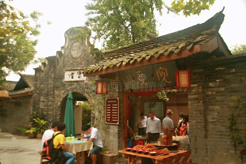 Kuan Alley och Zhai Alley i Chengdu fotografering för bildbyråer