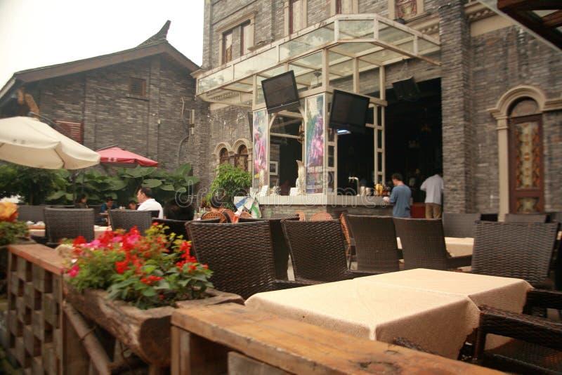Kuan Alley y Zhai Alley en Chengdu fotos de archivo libres de regalías