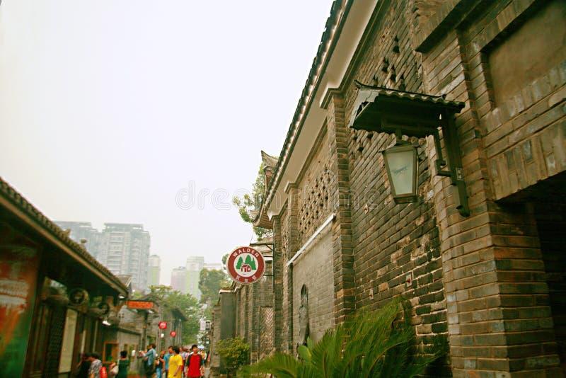 Kuan Alley y Zhai Alley en Chengdu foto de archivo libre de regalías