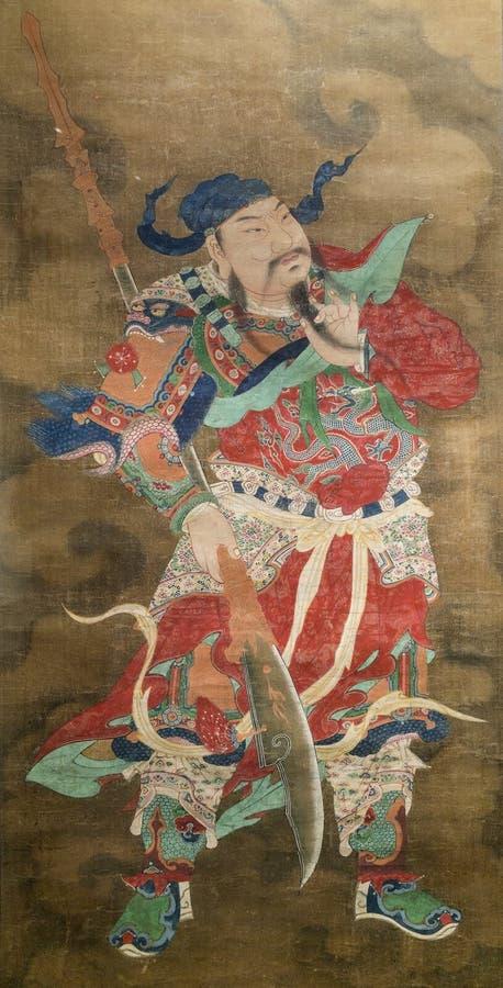 Kuan Kung壁画 免版税图库摄影