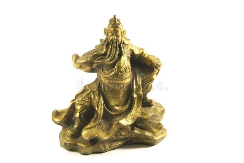 Kuan Kung o deus de guerra chinês e de prosperidade imagens de stock
