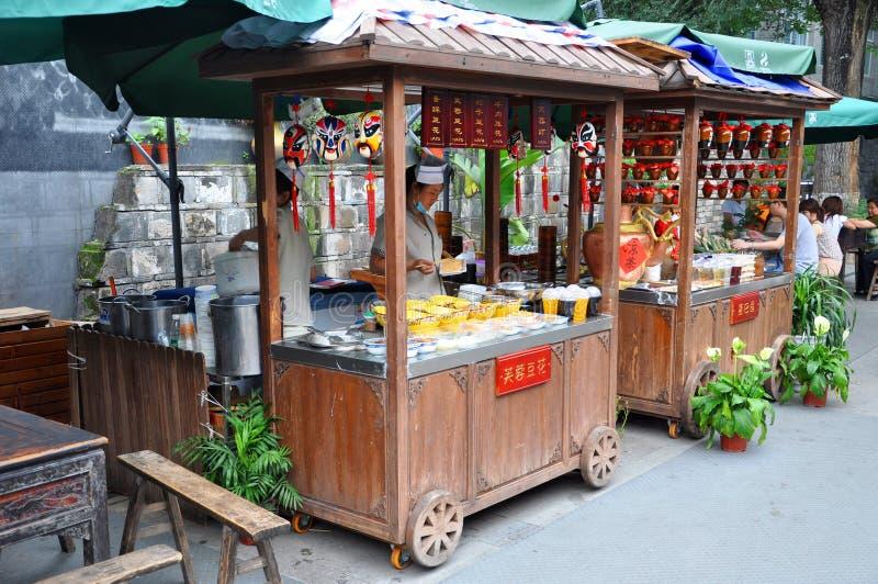 Kuan och Zhai Alley, Chengdu, Kina royaltyfria bilder