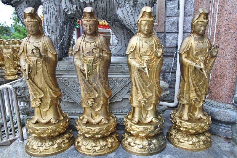Kuan Yin-beeldhouwwerken stock foto's