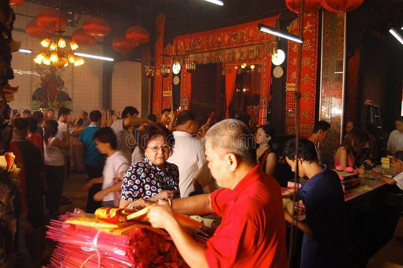 Kuan Yin Teng tempel arkivfoton