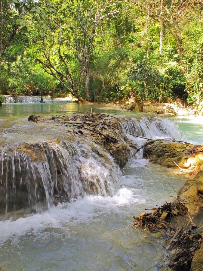 Kuang Si Falls - Laos stockbild