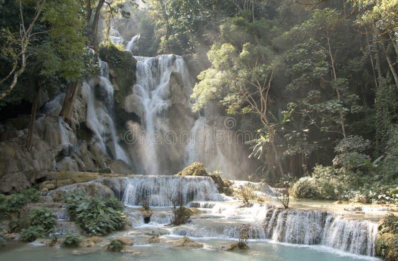 Kuang Si Waterfall - Laos royalty free stock photography