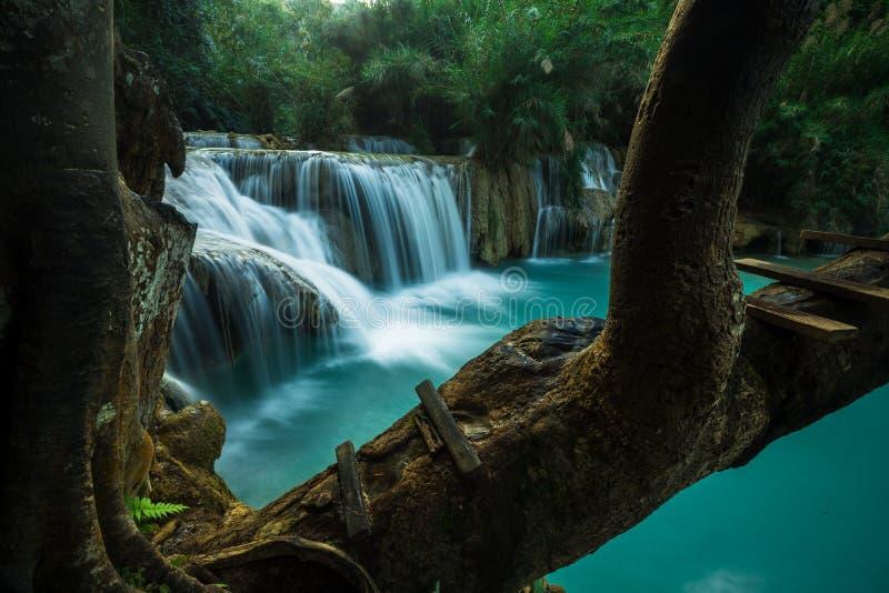 Kuang Si Waterfall, Luang Prabang lizenzfreie stockfotos