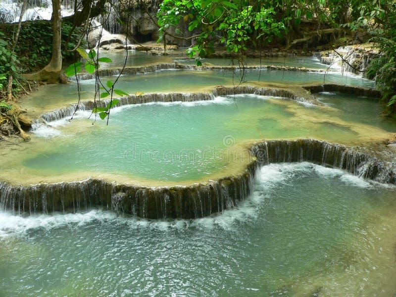 Kuang Si Waterfall, Luang prabang, Laos royalty-vrije stock fotografie
