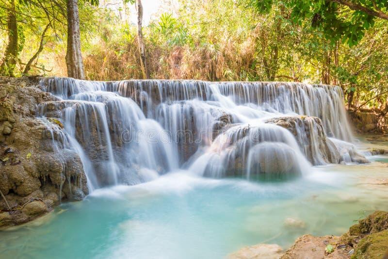 Kuang Si Waterfall, Luang Prabang, Laos imagen de archivo libre de regalías
