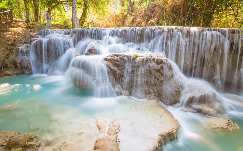 Kuang Si Waterfall, Luang Prabang, Laos fotografía de archivo
