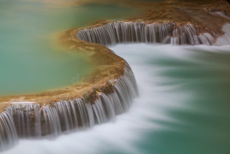 Kuang Si Waterfall, prabang di Luang fotografia stock libera da diritti