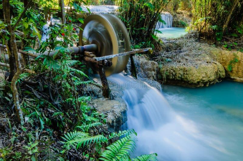 Download Kuang Si Waterfall, Tad Kwangsi, Water Wheel Royalty Free Stock Photos - Image: 31834168