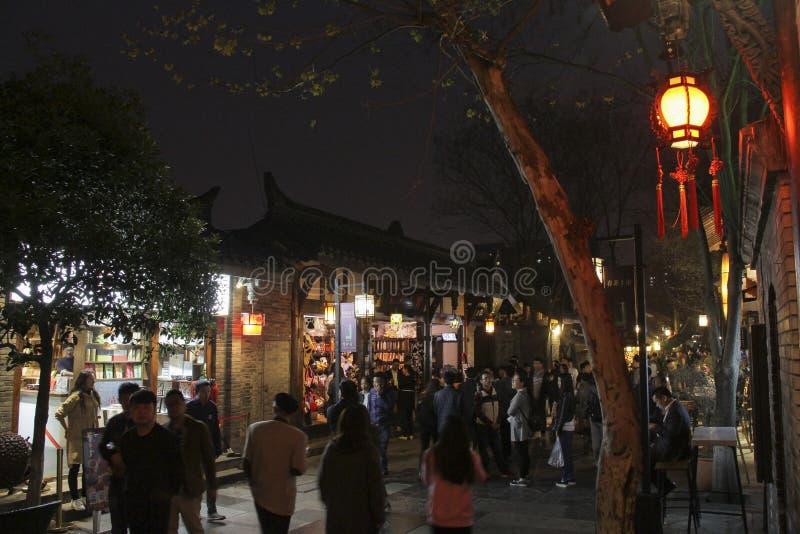Kuanzhai gränd i den Chengdu staden, Kina royaltyfri bild