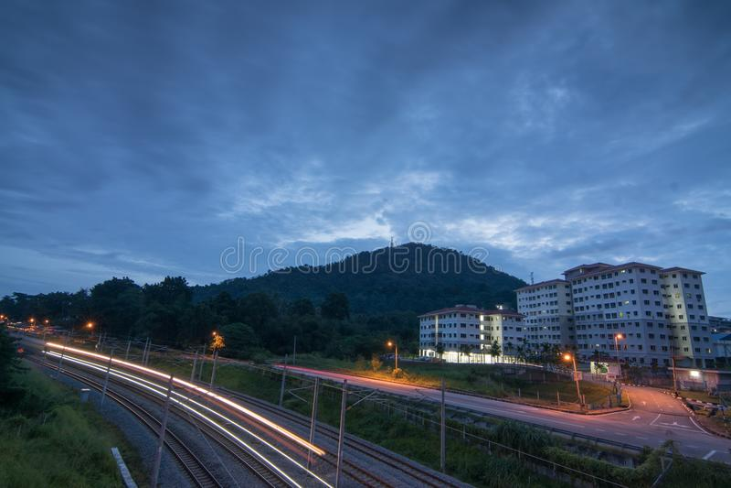Kuarters KTM Bukit Mertajam, Penang, Malaysia royaltyfri foto