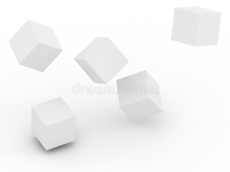 kub 3d royaltyfri illustrationer