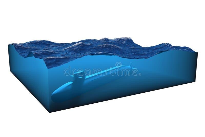 kub av vatten på en vit bakgrund stock illustrationer