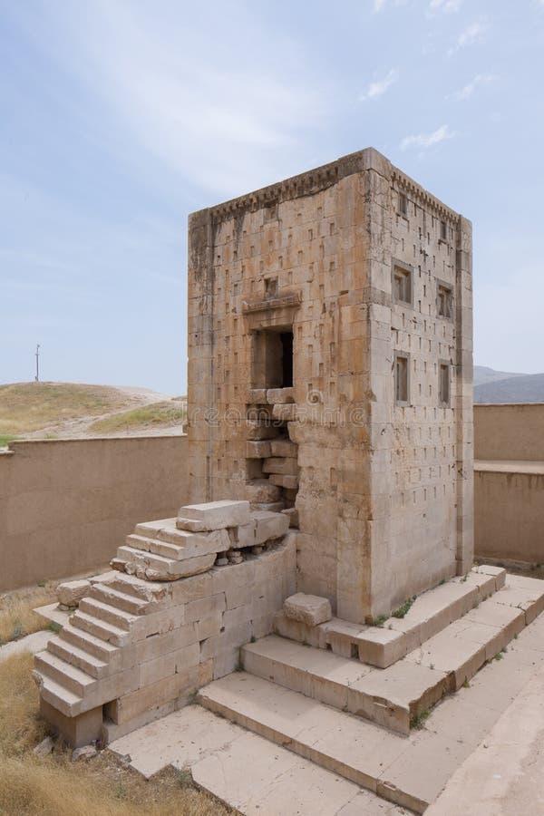 Kub av Zoroaster AKA Kaba-ye Zartosht, Achaemenidera, Fars, Iran arkivbild