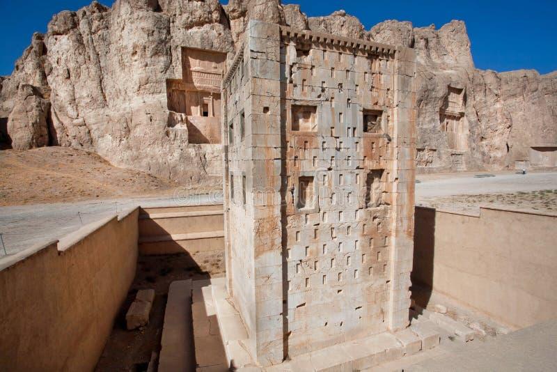 Kub av Zoroaster i Iran arkivfoto