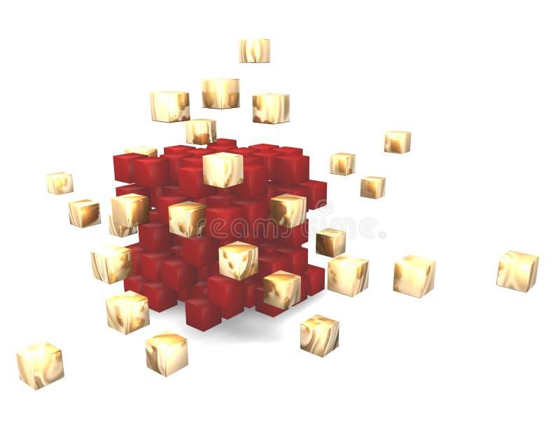 kub för abstrakt begrepp 3d stock illustrationer