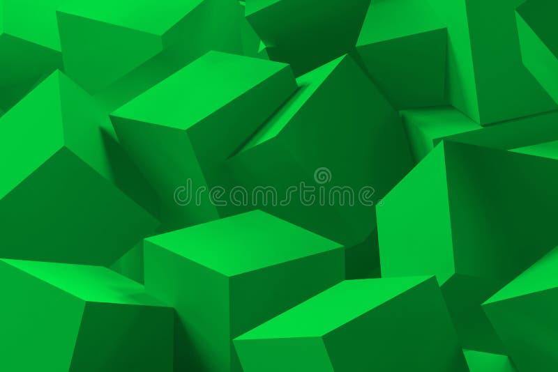 kub för bakgrund 3d stock illustrationer