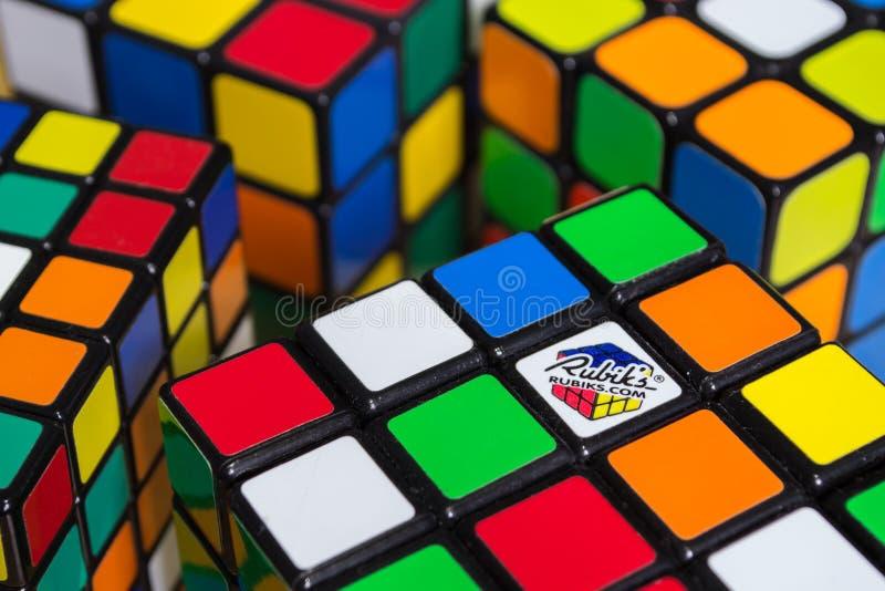 Kub för Rubik ` s royaltyfri fotografi