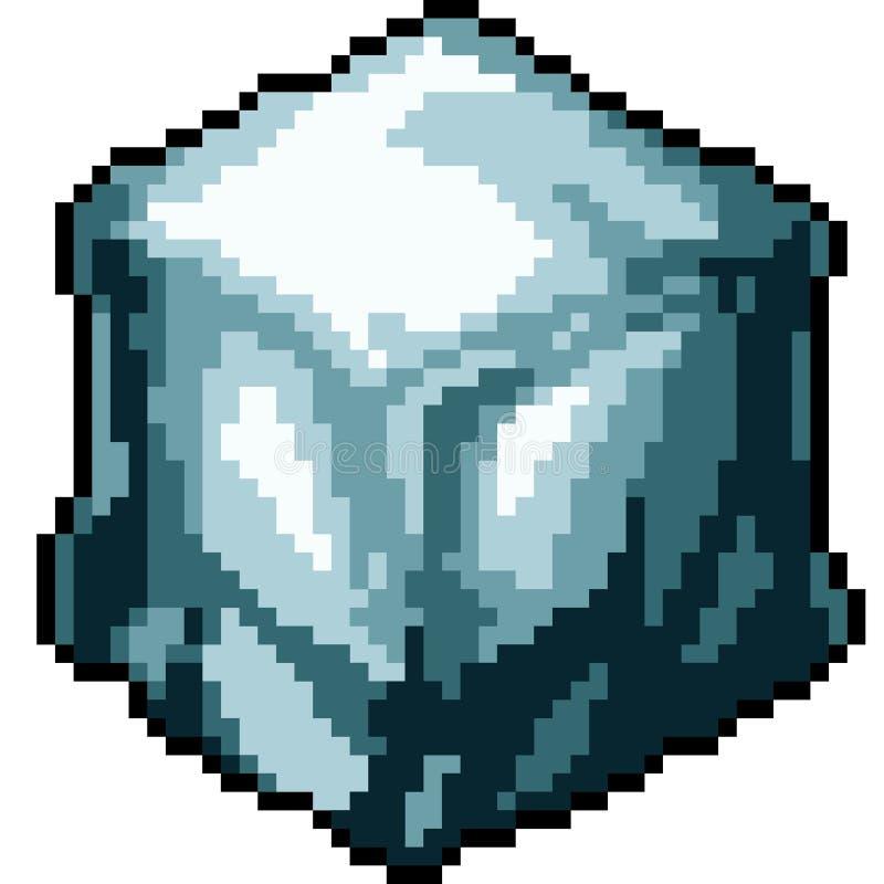 Kub för is för vektorPIXELkonst vektor illustrationer