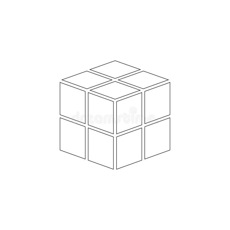 kub Plan vektorsymbol royaltyfri foto