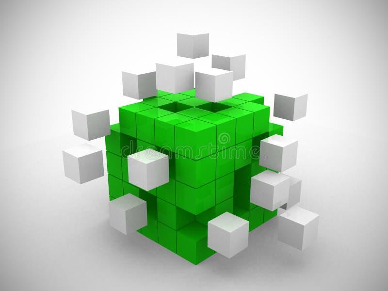Kub som monterar från gröna kvarter royaltyfria bilder