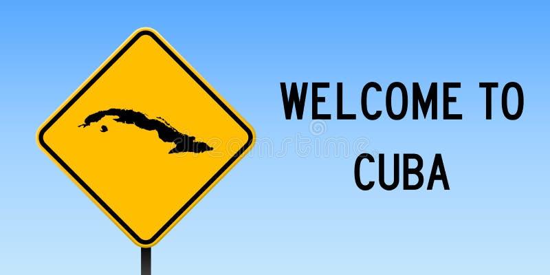 Kubaöversikt på vägmärke vektor illustrationer