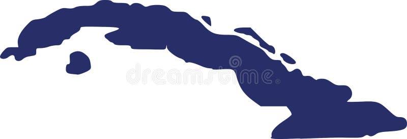 Kubaöversiktsvektor vektor illustrationer
