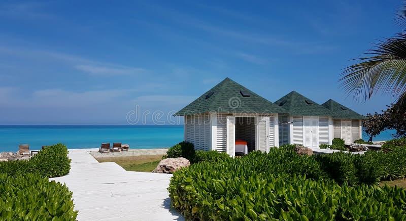 Kubańczyk Plażowe budy Varadero obrazy royalty free