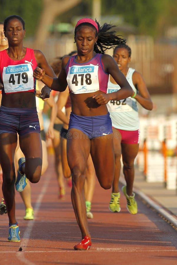 Kubańska atleta Różany Mary Almanza obraz royalty free