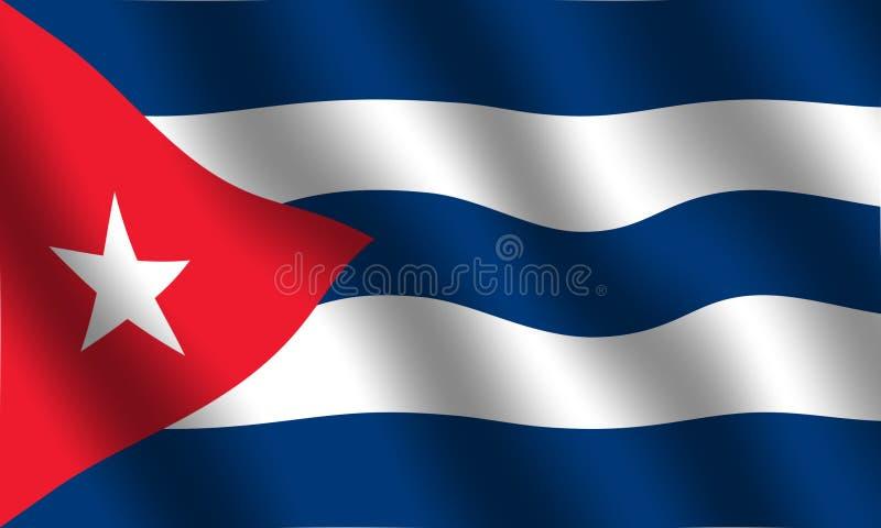 kubańska flaga royalty ilustracja