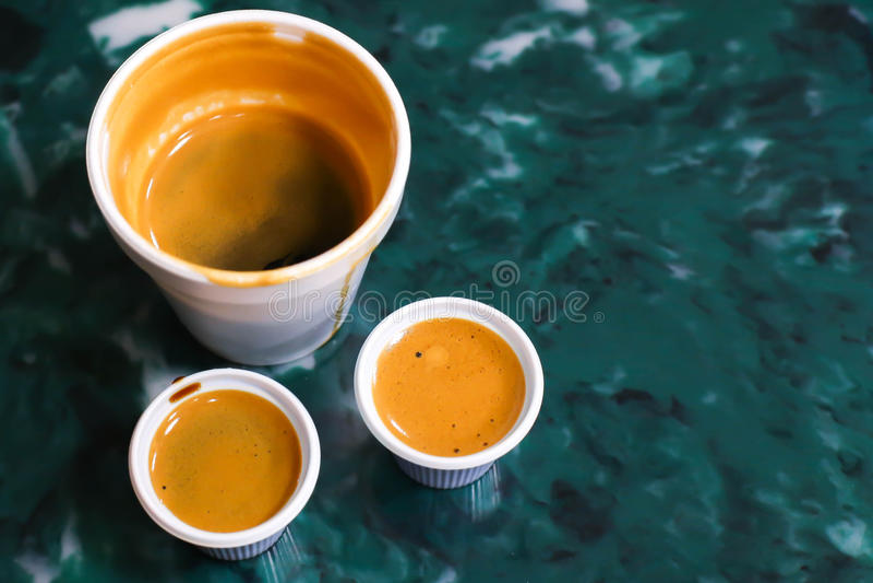 Kubańska kawa espresso lub Colada zdjęcia stock